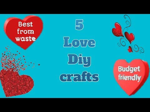 5 diy paper crafts | Awesome homemade gift | Easy Love craft for partner