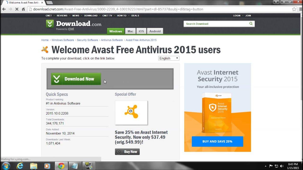 cnet best free antivirus 2015