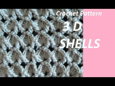 Crochet Pattern 3d Shells Youtube