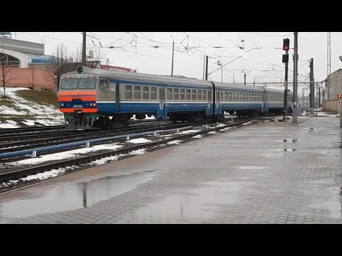 Дизель-поезд ДРБ1-66 на станции Орша-Центральная