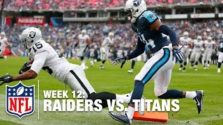 Derek Carr Fires it to Michael Crabtree for the Tiptoe Touchdown! | Raiders vs. Titans | NFL