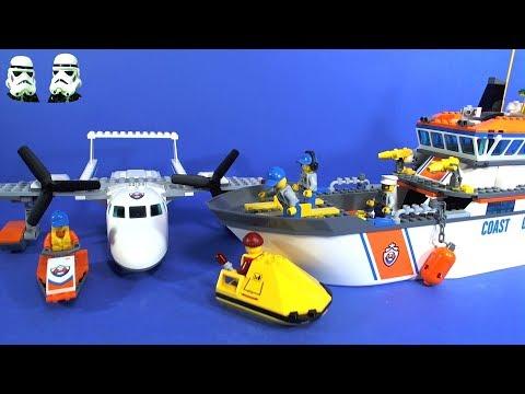 lego city coast guard sea rescue plane