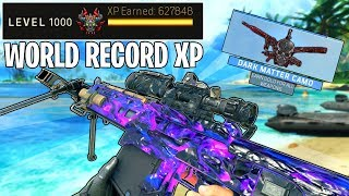 *WORLDS MOST XP* ALL GUNS GOLD + DARK MATTER CAMO in 1 GAME of BLACK OPS 4