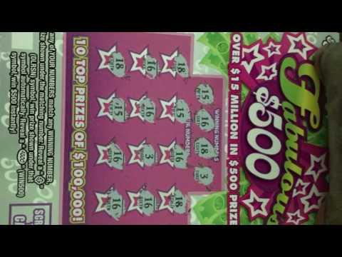 Fabulous 500, Pa lottery