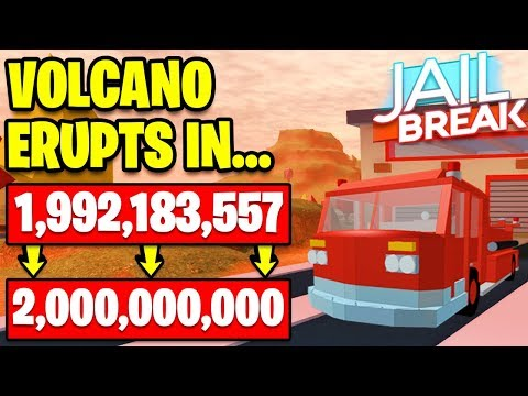 🌋 MAKING THE JAILBREAK VOLCANO ERUPT FASTER - NEW FIRE TRUCK OR AMBULANCE - Roblox Jailbreak LIVE - 동영상