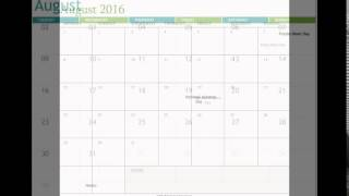Free August 2016 Printable Calendar Template