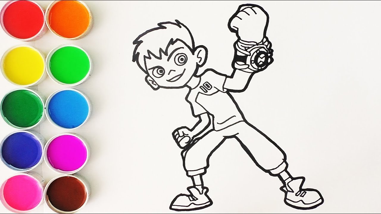 Como Dibujar Y Colorear A Ben 10 Dibujos Para Ninos Learn Colors Funkeep Youtube