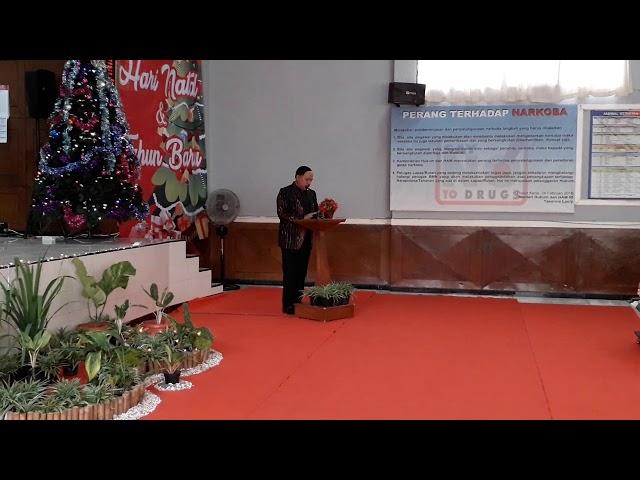 Hari Natal 2018 Kakanwil Jawa Barat Drs. Ibnu Chuldun BcIp, SH, Msi., Hadir di Lapas Paledang Bogor