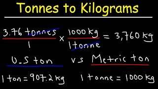 How To Convert From Tonnes to Kilograms and Kg to Tons