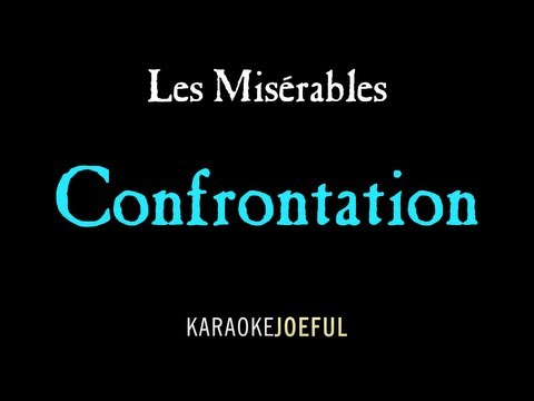 Confrontation Les Miserables Authentic Orchestral Karaoke Instrumental