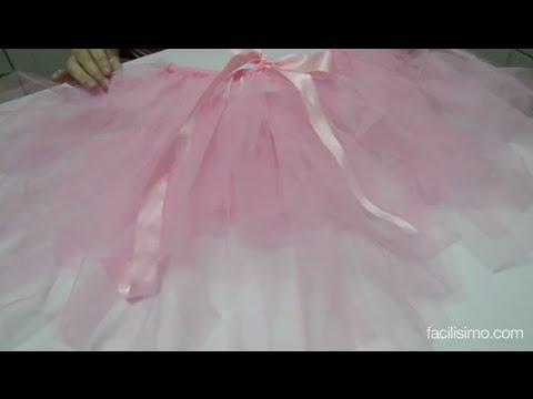 f55677654 Cómo hacer una falda de tul sin coser | facilisimo.com - YouTube