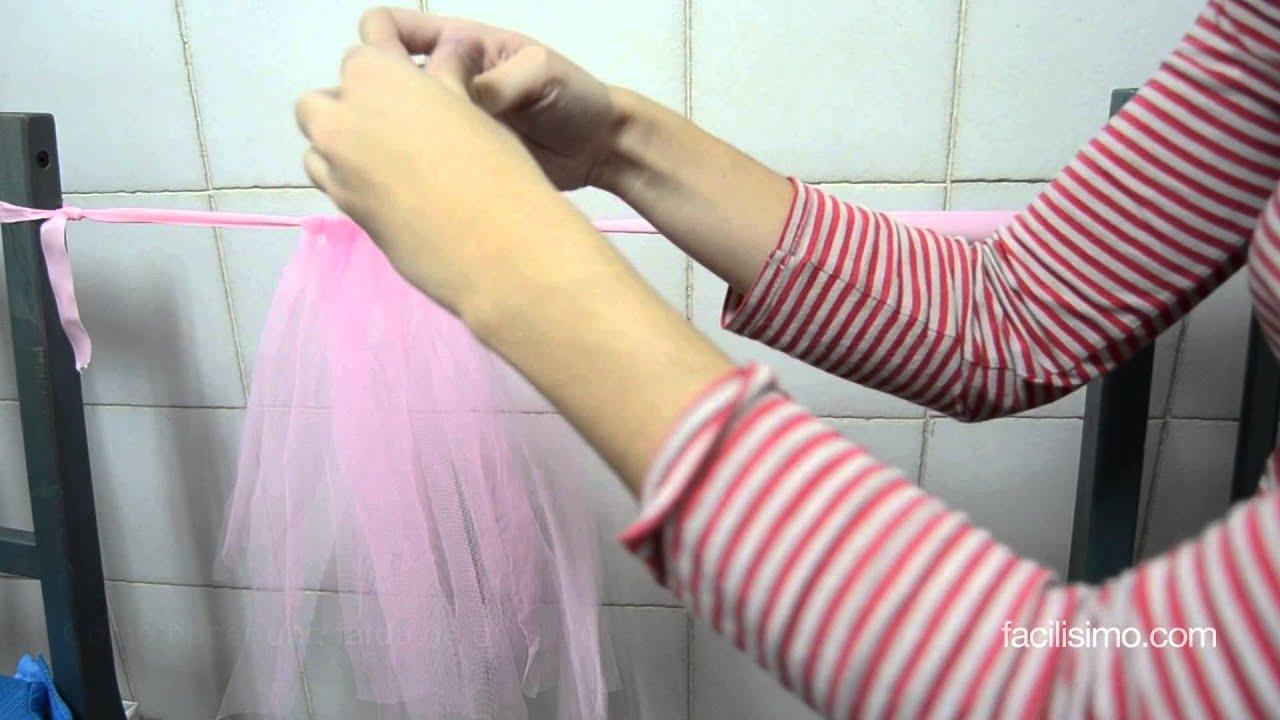 bbc9f83a2 Cómo hacer una falda de tul sin coser