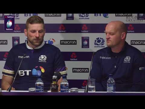 Gregor Townsend and John Barclay after Calcutta Cup victory | NatWest 6 Nations