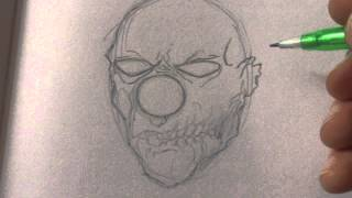 How To Draw A Zombie Clown Head