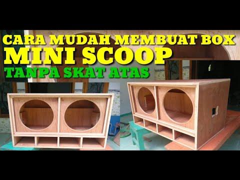 CARA MERAKIT BOX SPEAKER MINI SCOOP