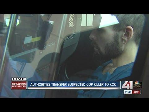 Authorities transfer suspected detective killer to Kansas City, Kansas