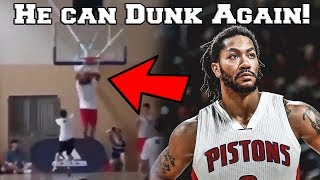 Derrick Rose GOT HIS ATHLETICISM BACK! SHOWS INCREDIBLE BOUNCE IN WORKOUT FOR DETROIT PISTONS