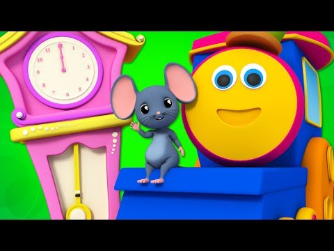 Thumbnail: Hickory Dickory Dock | Nursery Rhymes | Children Songs | Baby Rhymes | Bob The Train