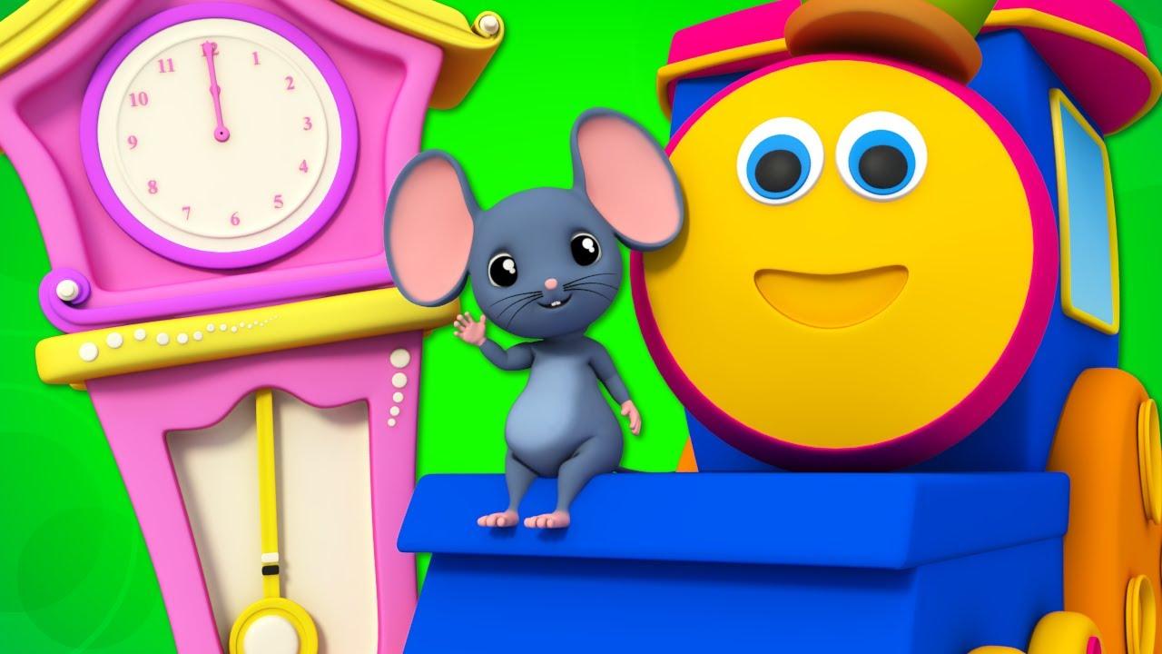 Hickory Dickory Dock | Nursery Rhymes | Children Songs | Baby Rhymes | Kids Tv Bob The Train