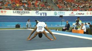 Abhijit Shinde 2014 Gymnastics World's FX routine