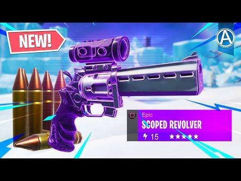 NEW SCOPED REVOLVER Gameplay! (Fortnite Battle Royale LIVE)