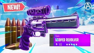 New Scoped Revolver Gameplay In Fortnite