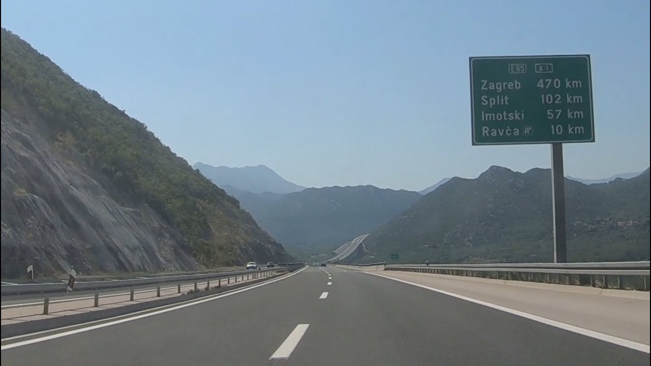 The Croatian Highway Off To Zagreb Driving In Croatia Youtube