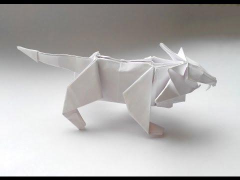 Лев оригами - Origami Lion -