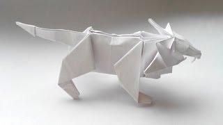 Лев оригами - Origami Lion