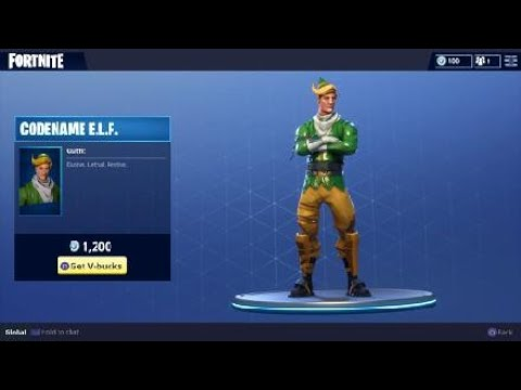 fortnite codename e l f costume holiday elf character outfit - fortnite codename elf skin