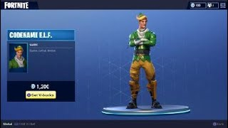 Fortnite Codename E.L.F Costume - Holiday Elf Character Outfit