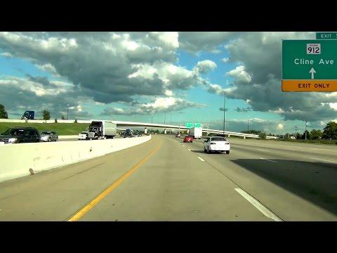 Hammond, Indiana  I80  I94 EB  Borman Expressway