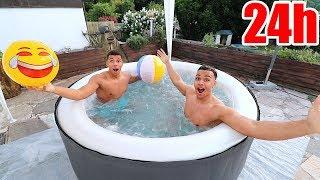 24 STUNDEN IM POOL !!! | PrankBrosTV