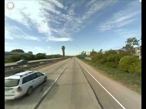 Google street view timelapse. California State Route 1