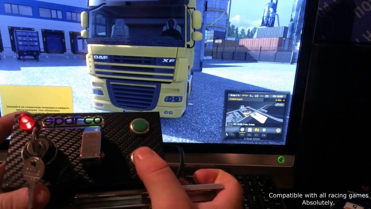 Buttonbox for Racing Game with a key - ETS 2 test mini ...