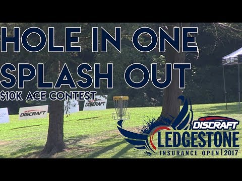 Ace Run during $10,000 Disc Golf Hole in One Contest - Ledgestone Insurance Open