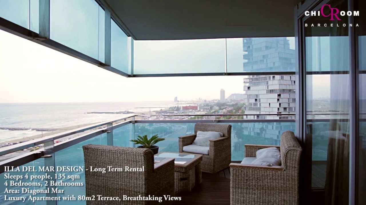 Barcelona Luxury Apartment Illa Del Mar Long Term Rental   ChicRoom