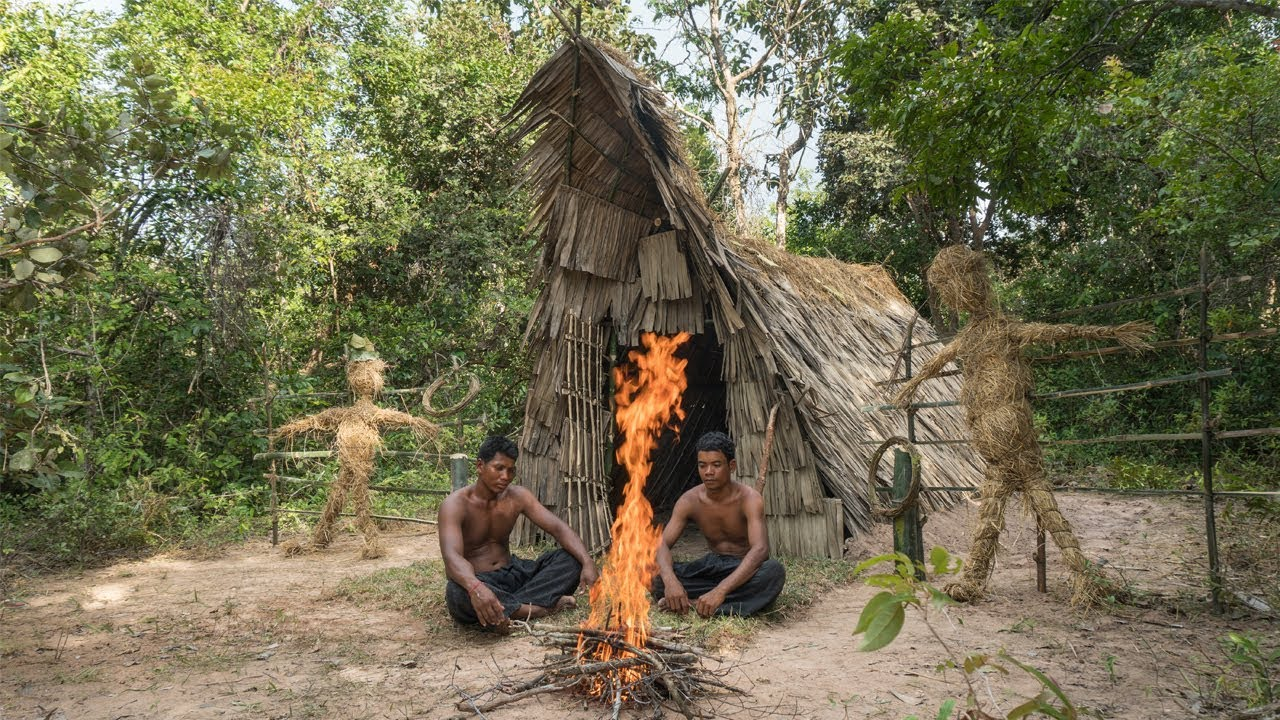 Survival Builder: Bamboo Palm Leaves Hut