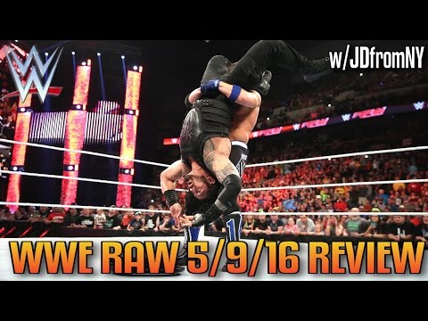 WWE Raw 5/9/16 Review: Roman Reigns & The Usos vs The Club - Six-Man Elimination Tag Team Match