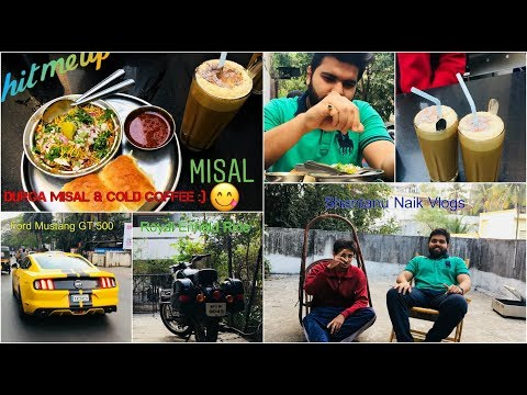 Pune's special Misal Pav | DURGA Cold coffee | Royal Enfeld ride and much MORE