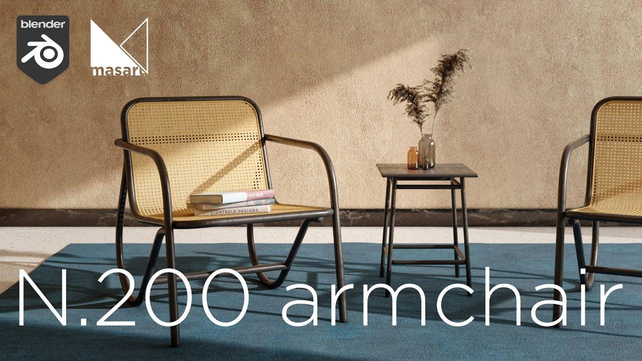 How to make the N.200 armchair - Blender Tutorial