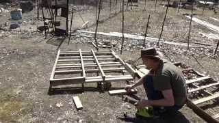 Preparing Wood Pallets To Build A Simple A Frame Chicken Tractor