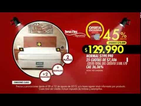 Abcdin cama americana 2 plazas respaldo 2 veladores for Ofertas de camas