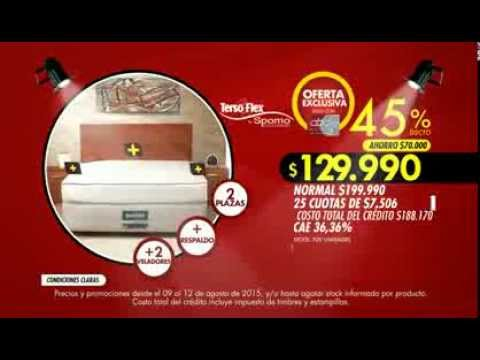 Abcdin cama americana 2 plazas respaldo 2 veladores for Sofa cama 2 plazas oferta