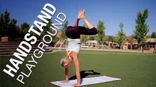 Handstand Yoga Playground Class - Five Parks Yoga