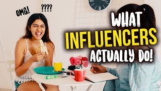What influencers  ACTUALLY do in a day! | Larissa Dsa