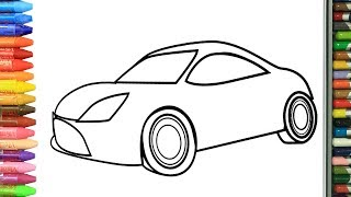 Learn Colors with Coloring Book cars | How to Draw and Color KidsTV