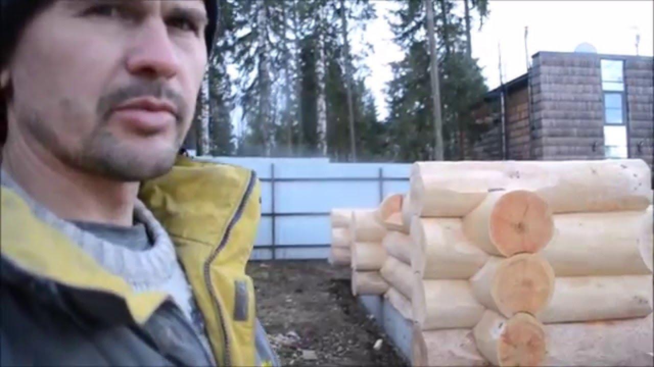 Сборка сруба из бревна своими руками видео фото 136