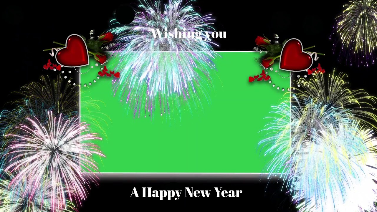 top green screen christmas new year 2019 frame background free download no copyright