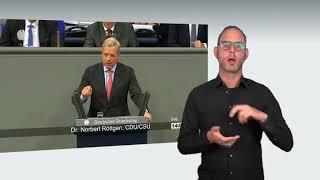 Gebärdensprachvideo: Aktuelle Stunde zur Lage im Nahen und Mittleren Osten